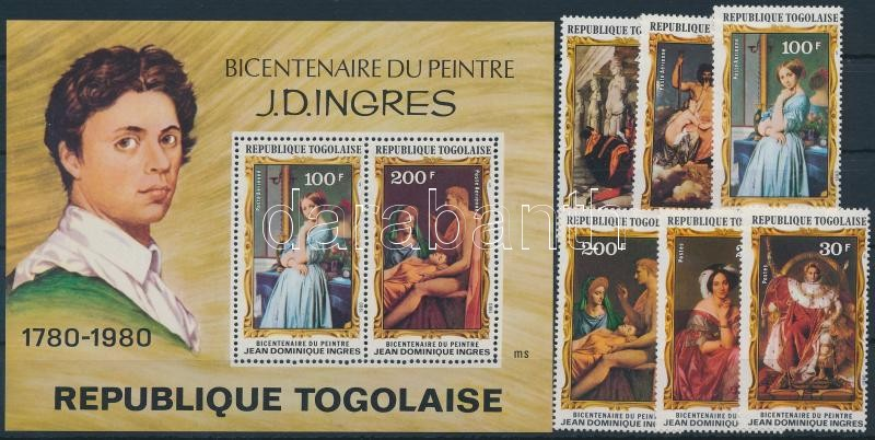 J.D.Ingres + block, 200 éve született J.D.Ingres + blokk