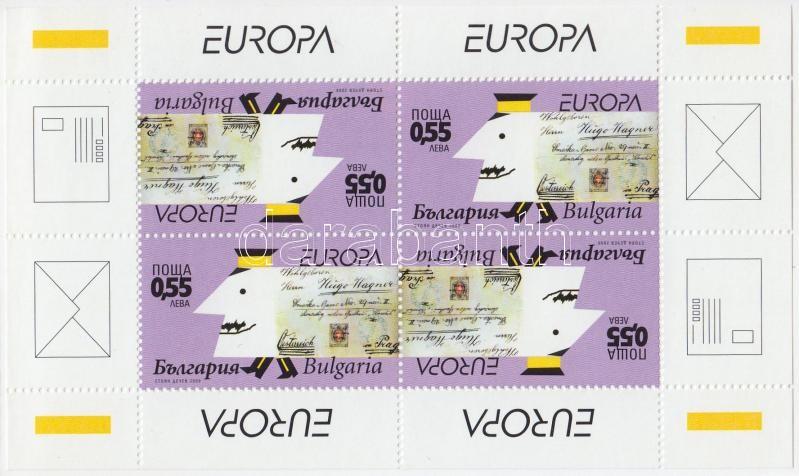 Europa CEPT: The letter stamp booklet, Europa CEPT: A levél bélyegfüzet