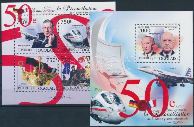 50th anniversary of Franco-German reconciliation mini sheet + block, 50 éves a francia- német kiegyezés kisív + blokk