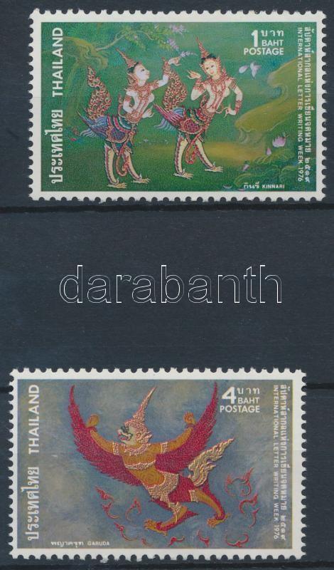 International Stamp Week Gods Thai mythology set 2 values, Nemzetközi Bélyeghét, a thai mitológia istenei sor 2 értéke