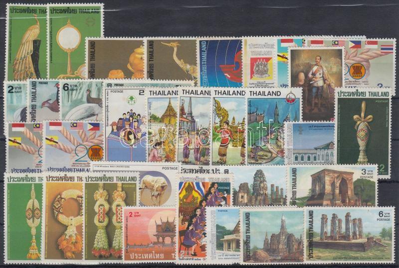 1987-1988 6 diff sets + 9 diff stamps, 1987-1988 6 klf sor + 9 klf önálló érték
