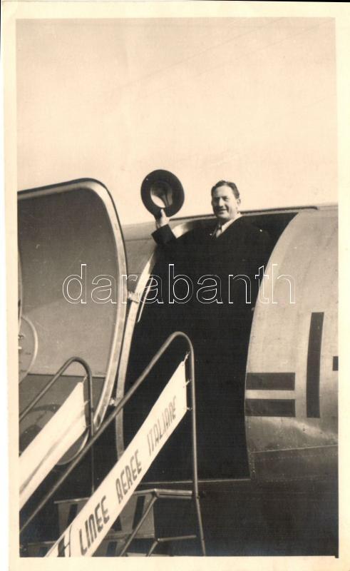 1948 Linee Aeree Italiane / Italian Airline, aircraft, photo, 1948 Olasz légitársaság, repülő, fotó