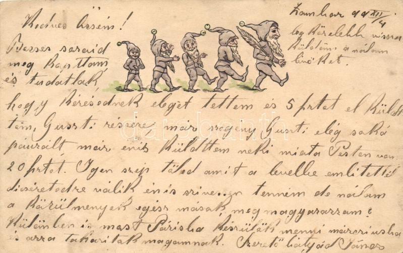 1899 Dwarf group, Emb., 1899 Törpe csoport, dombornyomott
