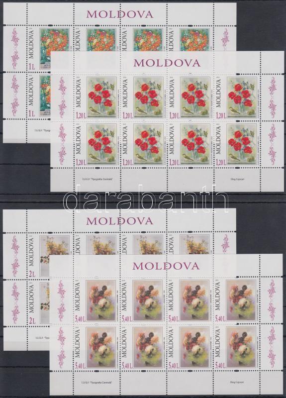 Flower Paintings minisheet set, Virágfestmények kisív sor