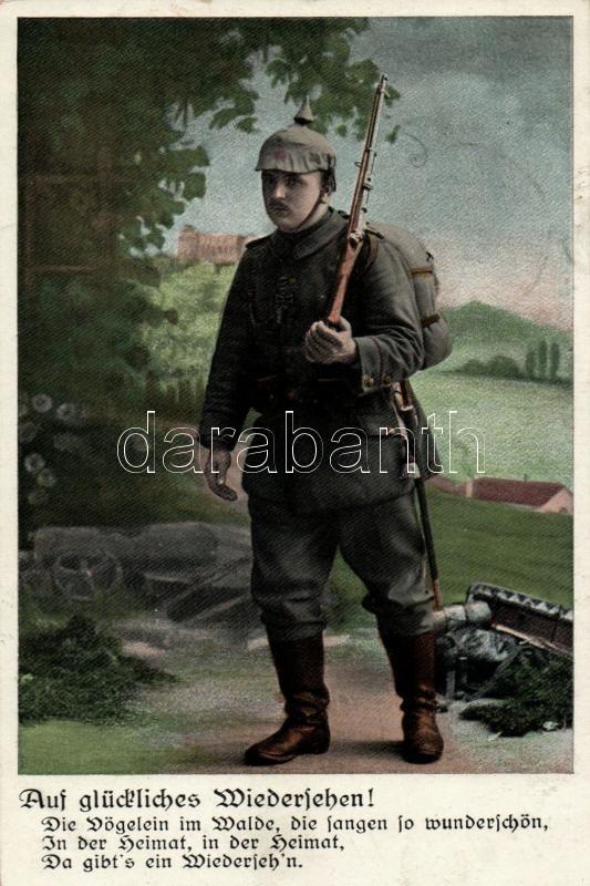 WWI German soldier, S.V.D. Serie 6150/4., I. világháborús német katona, S.V.D. Serie 6150/4.