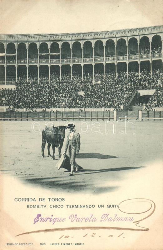 Corrida de Toros, Bombita chico terminando un quite / bullfight, Bikaviadal, torreádor