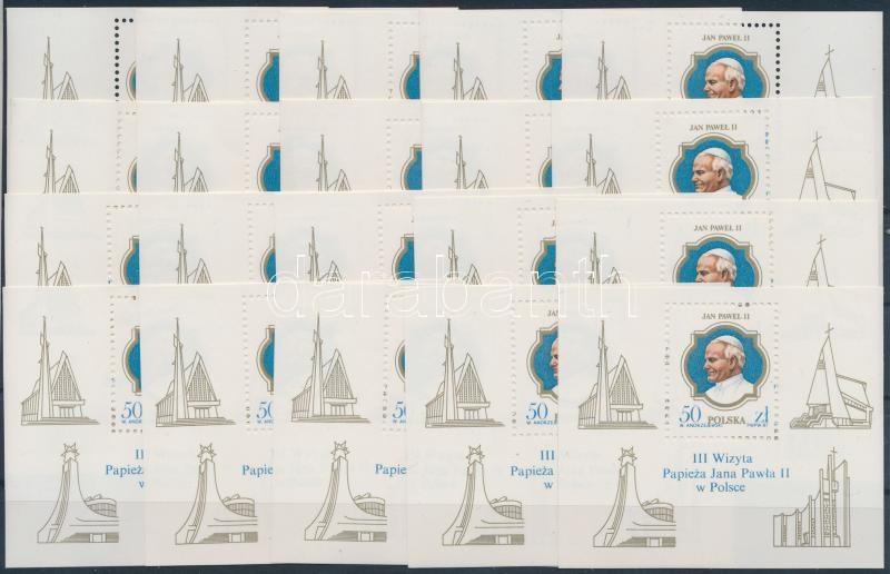 Pope John Paul II. 20 blocks, II. János Pál pápa 20 db blokk