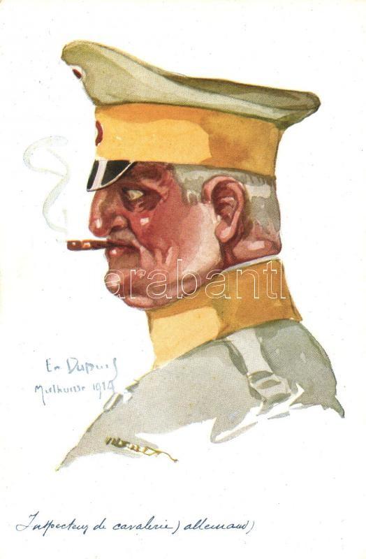 Inspecteur  de Cavalerie allemand / German military officer, Visé Paris No. 35. Leurs Caboches s: Emile Dupuis, Német katonatiszt, Visé Paris No. 35. Leurs Caboches s: Emile Dupuis