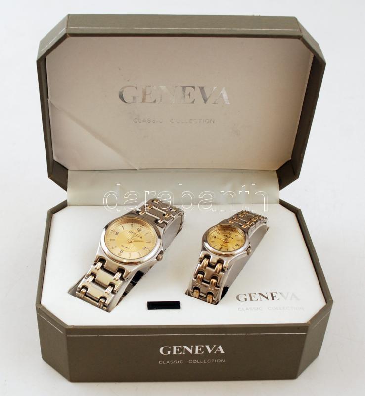 Geneva női és férfi quartz karóra szett 4426694dbe