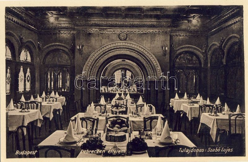 Budapest VII. Debrecen étterem, belső