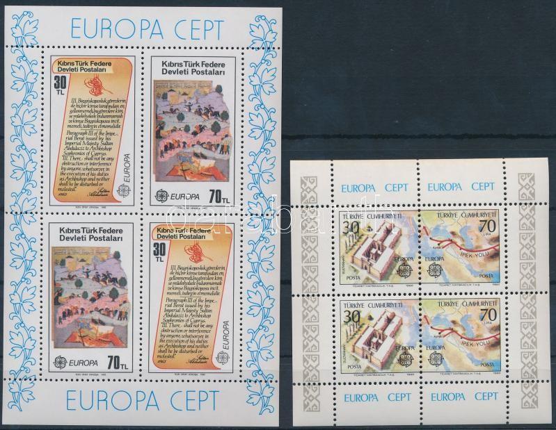 Turkey, Turkish Cyprus Europa CEPT 2 diff blocks, Törökország, Török-Ciprus Europa CEPT 2 klf blokk