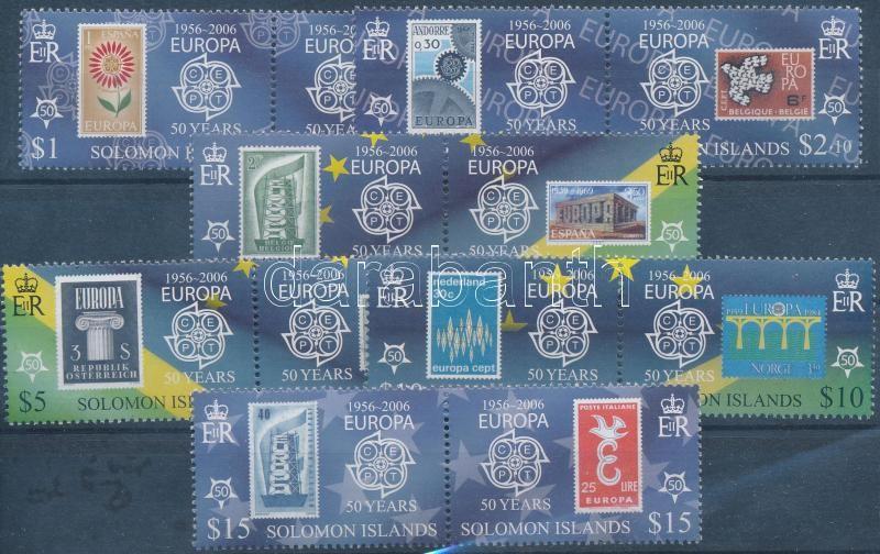 Europa CEPT set in pairs, 50 éves az Europa CEPT sor párokban