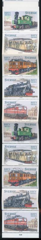 Locomotive stamp booklet, Vonatok bélyegfüzet