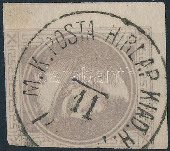 "Austria-Hungary postmark ""M.K.POSTA HIRLAP KIAD.H. / (PEST)"", ""M.K.POSTA HIRLAP KIAD.H. / (PEST)"""