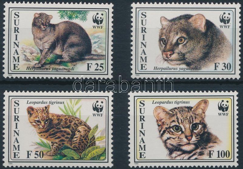 WWF: Cats 4 stamps + 4 FDC, WWF: Macskák 4 érték + 4 db FDC-n