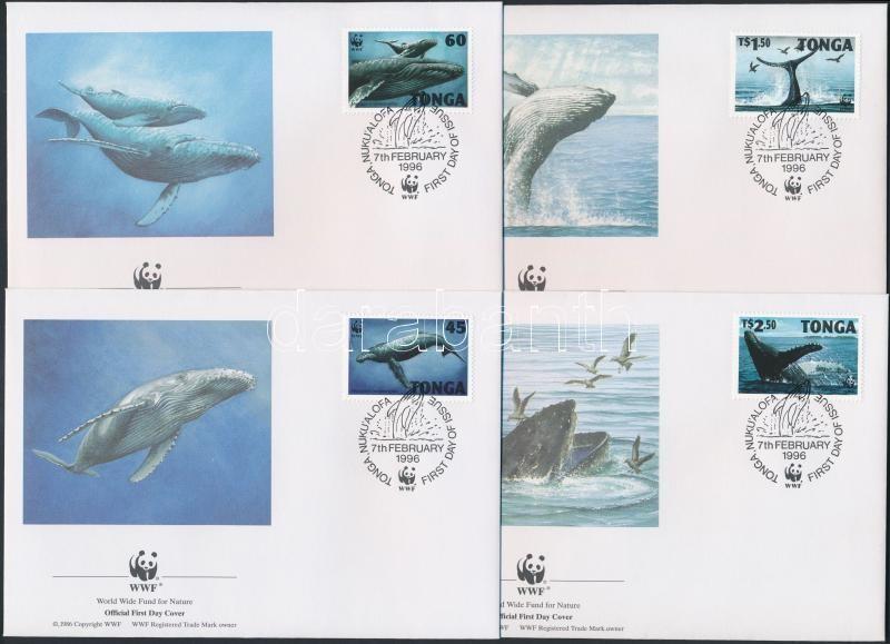 WWF: Whale set on FDC, WWF: Bálna sor FDC-n