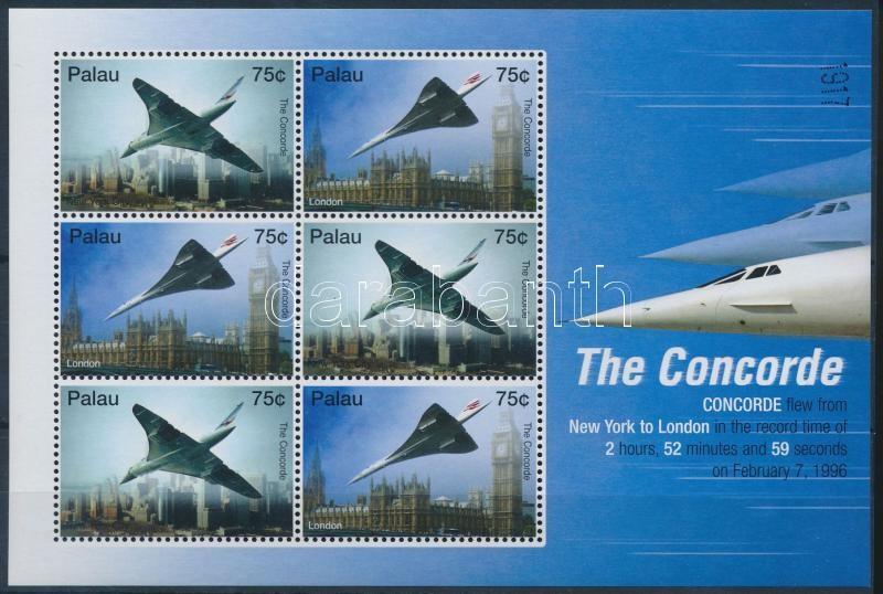 Concorde minisheet, Concorde; repülő kisív