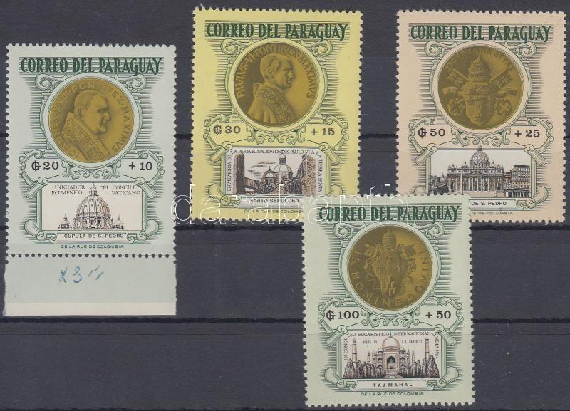 Popes on coins set, Pápák érméken sor