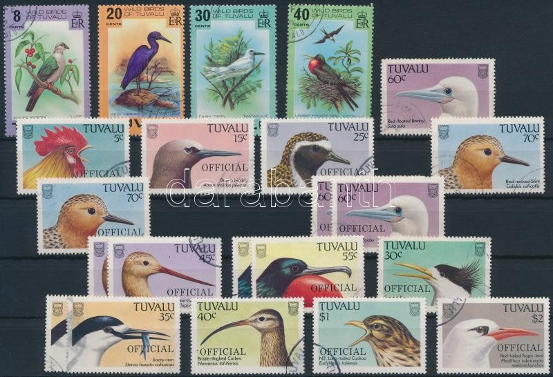 1978-1989 Birds 22 stamps, 1978-1989 22 db Madár bélyeg