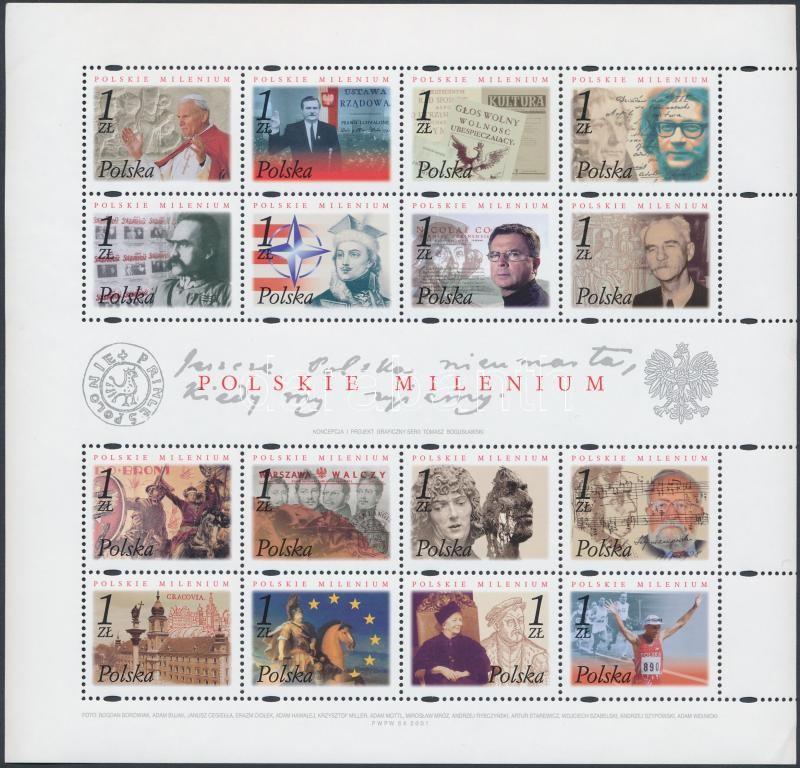 Millennium - Forming History mini sheet, Millennium - Történelem formáló lengyelek kisív