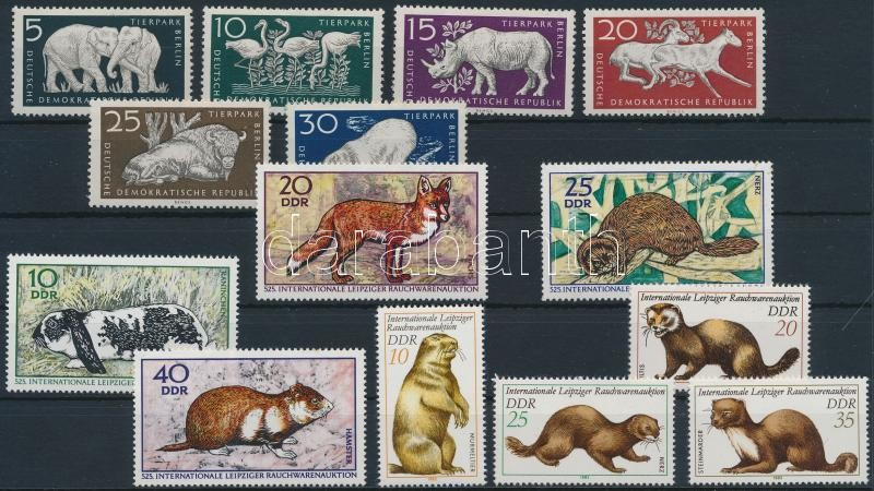 1956-1982 3 Animal sets, 1956-1982 3 klf Állat sor
