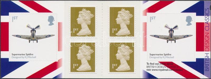 Brit tervezés (IV.) repülő öntapadós bélyegfüzet, British Design (IV.) Airport self-adhesive stamp-booklet