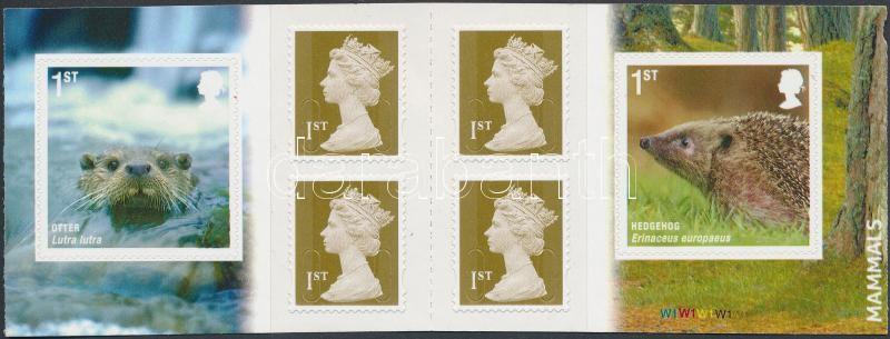 Mammals self-adhesive stamp-booklet, Emlősök bélyegfüzet