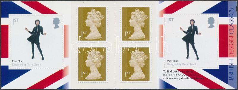 British Design self-adhesive stamp-booklet, Brit design öntapadós bélyegfüzet