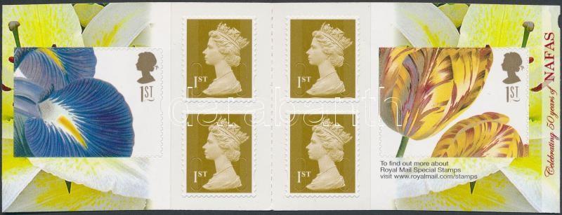 Flower arrangement self-adhesive stamp-booklet, Virágkötészet öntapadós bélyegfüzet