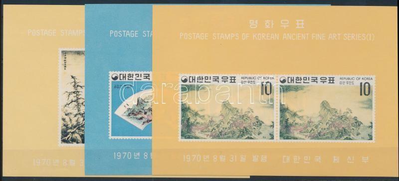 Yi-dynasty (I): landscapes blockset, Yi-dinasztia (I): tájképek blokksor