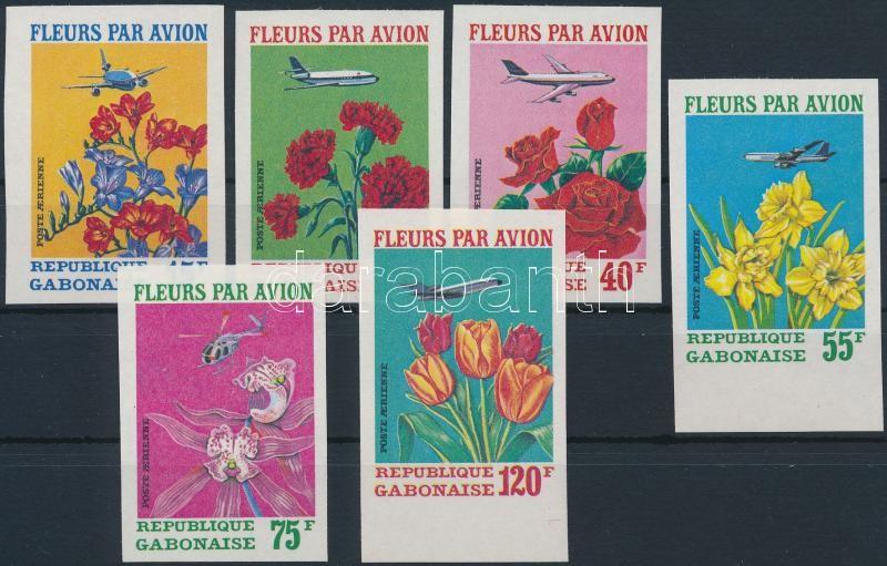 Flower imperforated set, Virág vágott sor