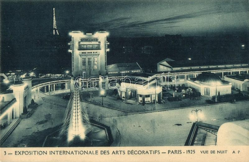 1925 Paris, Exposition Internationale des Arts Decoratifs / expo, night
