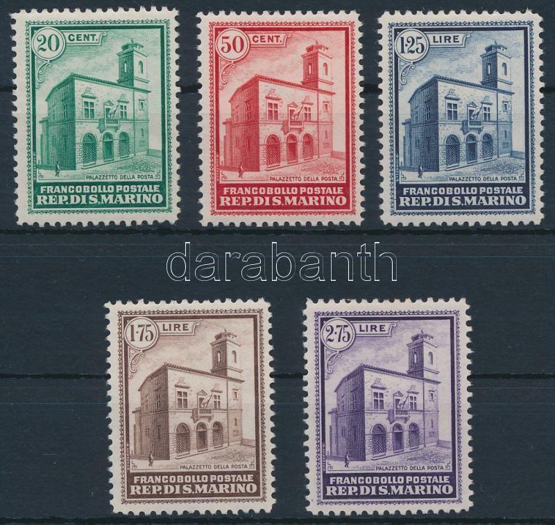 New post office almost invisible hinge remainder, Új postaépület alig látható falcnyommal