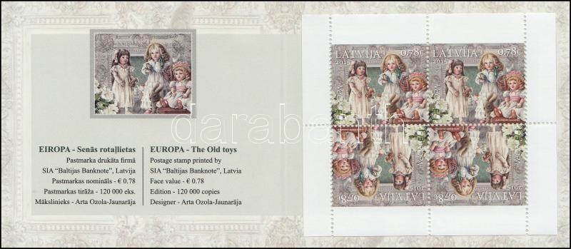 Europa CEPT, Historical Games slef-adhesive stamp-booklet, Europa CEPT, Történelmi játékok bélyegfüzet