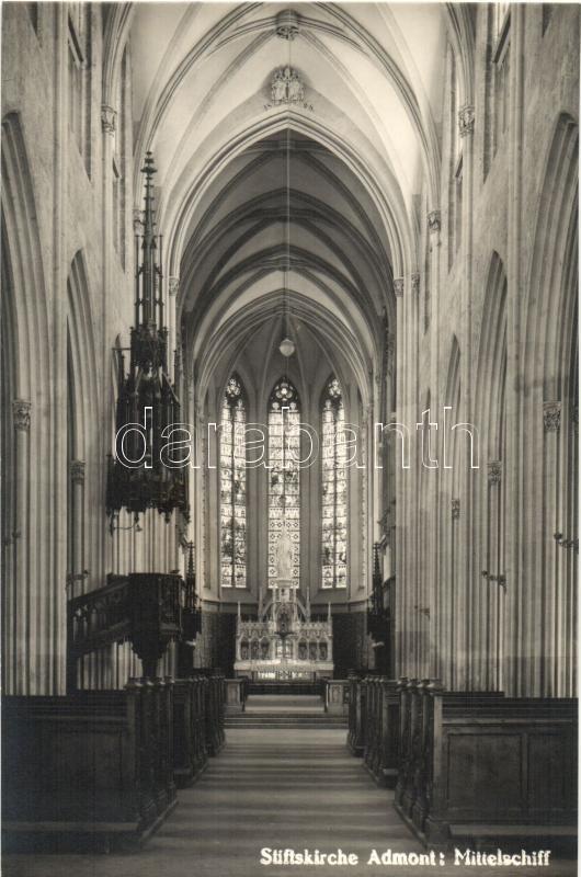 Admont, Stiftskirche, Mittelschiff / church interior
