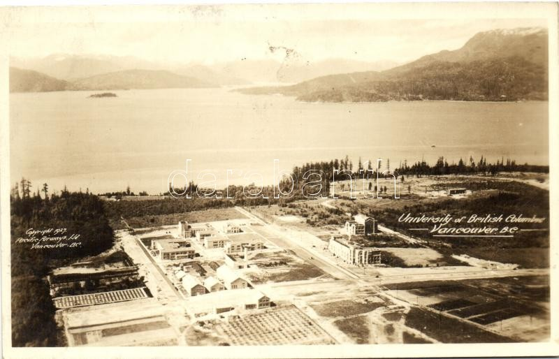 Vancouver, University of British Columbia, aerial view