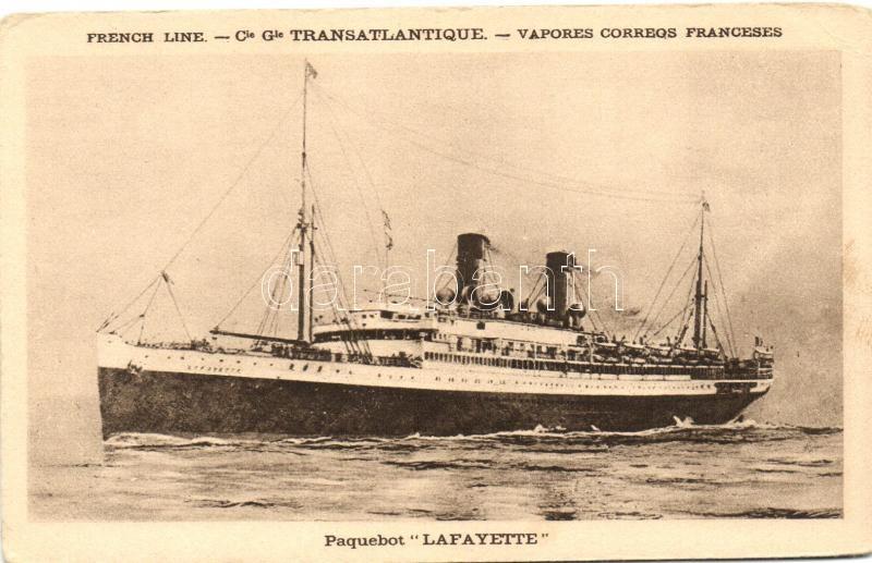 Lafayette, Paquebot de Compagnie Générale Transatlantique / French Trasnatlantic liner ship, Francia Trasnatlanti óceánjáró