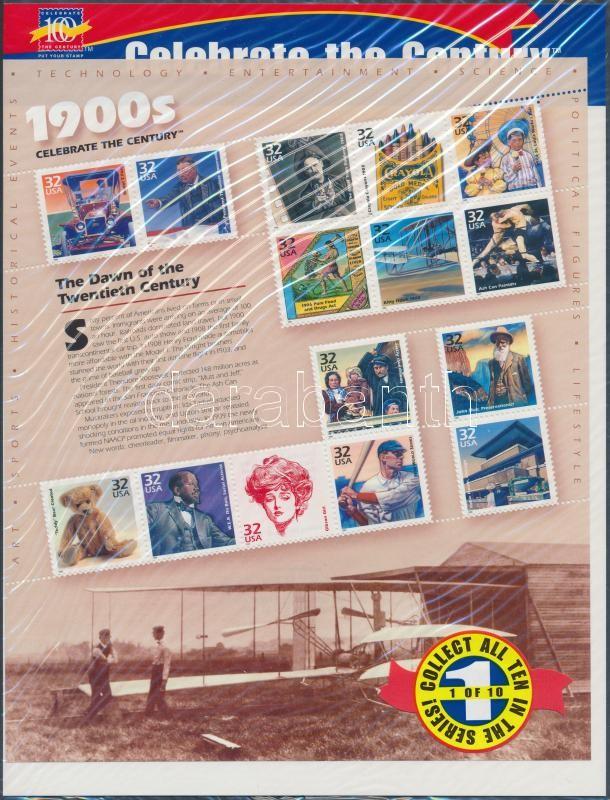 1998 USA a 20. században (I) blokk Mi 40 eredeti bontatlan csomagolásban