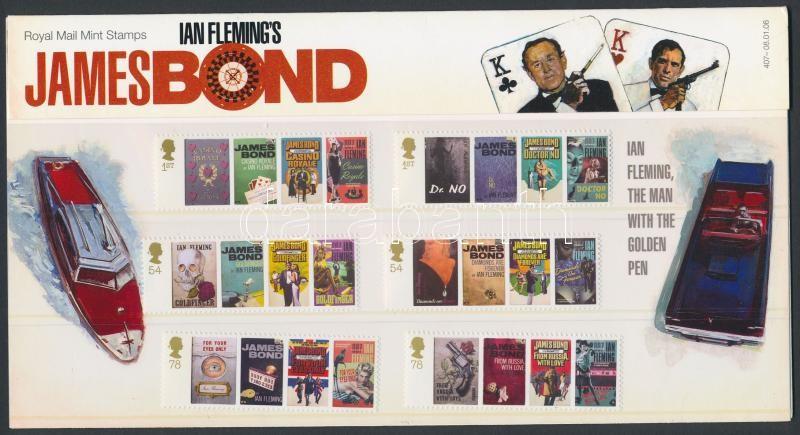 Ian Fleming's birth centenary set in holder, Ian Fleming 100. születésnapja sor díszcsomagolásban