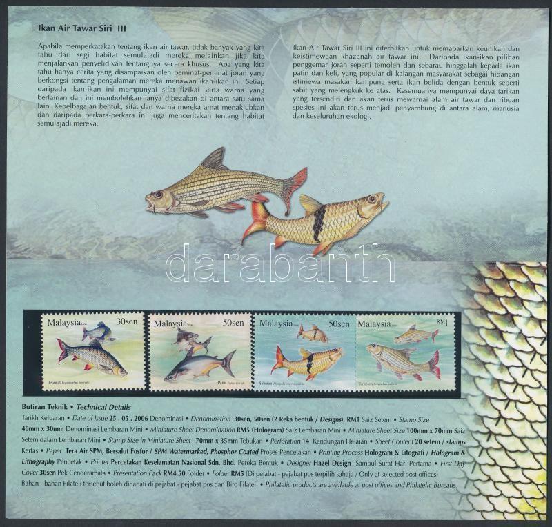 Fishes set in holder, Halak sor díszcsomagolásban