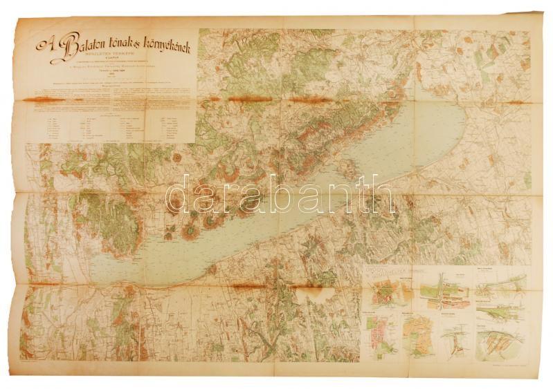 balaton és környéke részletes térkép 1902 A Balaton tónak és környékének részletes térképe, Lóczy  balaton és környéke részletes térkép