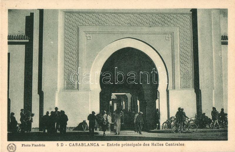 Casablanca, Entrée principale des Halles Centrales