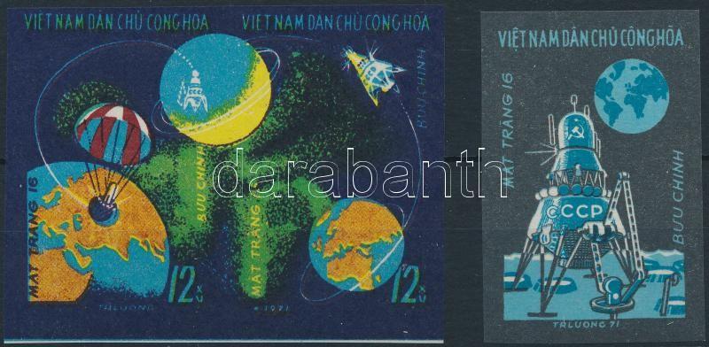 Space research, Luna 16 imperforated set, Űrkutatás, Luna 16 vágott sor
