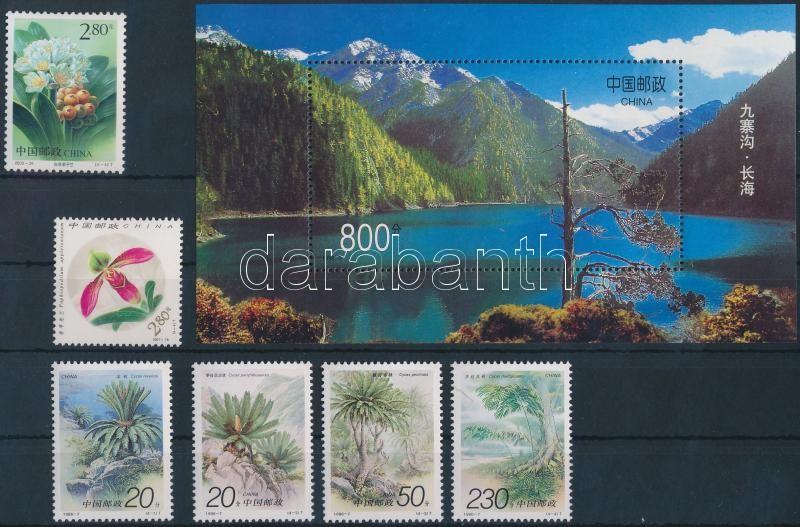 1996-2001 6 stamps + 1 block, 1996-2001 6 klf bélyeg és 1 blokk