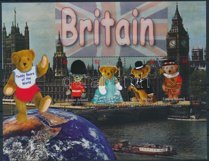 British bears mini sheet, Brit medvék kisív