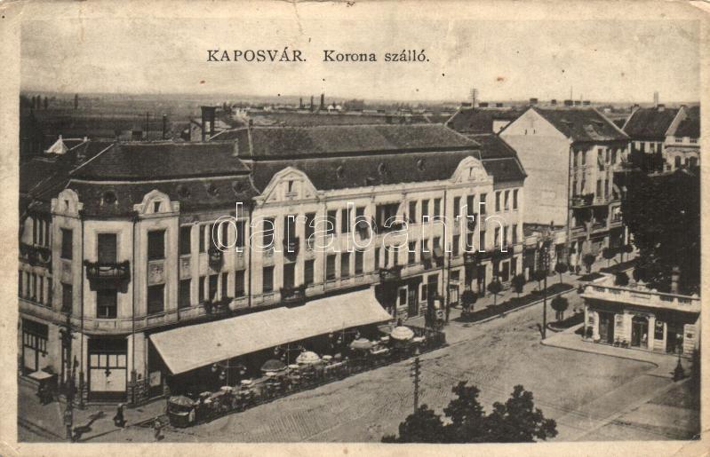 Kaposvár, Korona Szálló, a Rázsó Testvérek kiadása