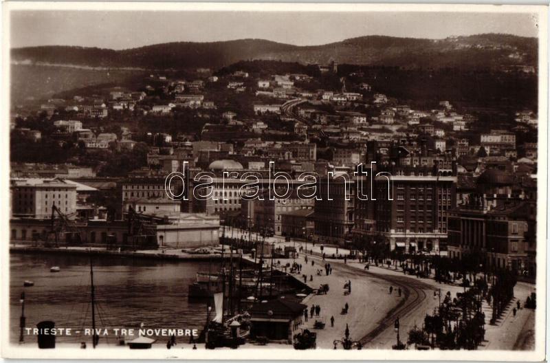 Trieste, Riva Tre Novembre / port, avenue