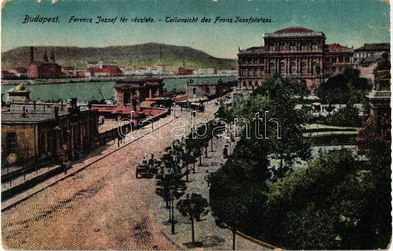 Budapest V. Ferenc József tér, a Tudományos Akadémia épülete