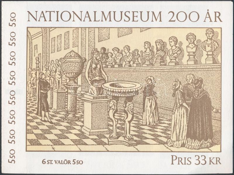 A Nemzeti Múzeum műalkotásai bélyegfüzet, National Museum creations stamp-booklet