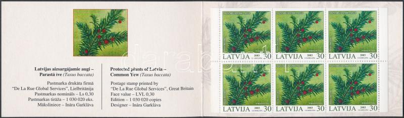 Protected plants (II.) stamp-booklet, Védett növények (II.) bélyegfüzet